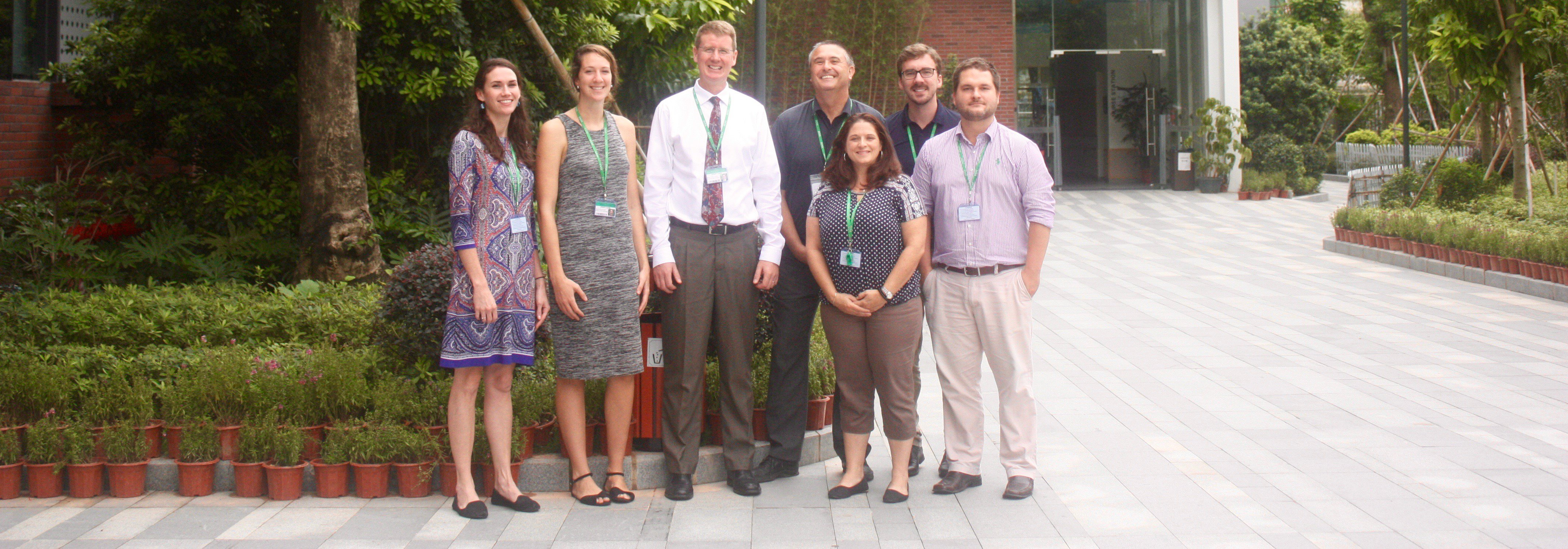 Left: Gina Awalt (Primary School Principal), Emma Stafford (PYP Coordinator), David Swason (Head of School), Nicholas Bears (EY Coordinator), Addie Loy (IB Director), Alex Ritchie (DP Coordinator), Patrick Boekhoud (Middle & High School Principal); Not pictured: Katherine Crossman (MYP Coordinator)