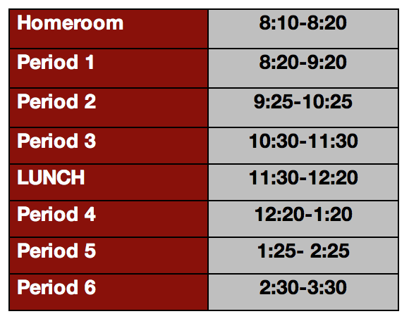 MYP and DP Timetable